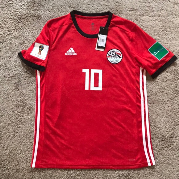 online store 3157d 09296 Mohamed Salah 2018 Egypt World Cup Jersey Size M